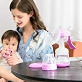 Oren Empower BPA-free Advanced Manual Breast Pump with 7 Pads (Pink)
