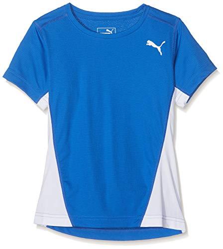 PUMA Mädchen Cross The Line Tee W T-Shirt, Team Power Blue White, 164 Line-tee