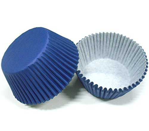 Coogel 100pcs Navy Blue Plain Solid Color Paper Cake Cup Liner Baking Cup Muffin Tray Cupcake Cases 4 Birthday Wedding