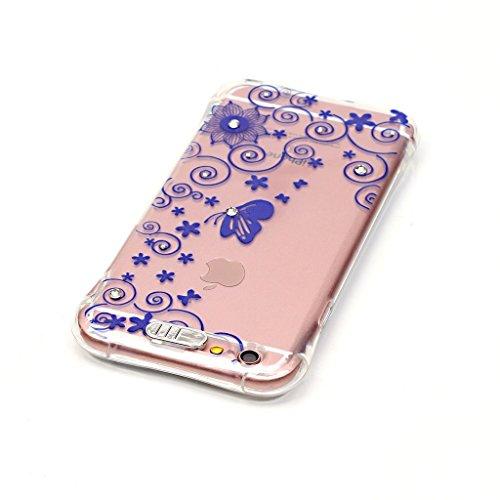Uming® Copertura di caso della TPU colorful soft modello della stampa Case Cover ( Colorful stick love - per IPhone6SPlus IPhone 6SPlus 6Plus IPhone6Plus ) Sacchetto di caso della copertura della prot Blue lace