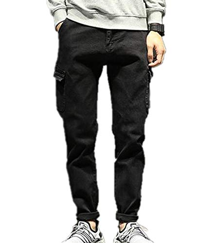 Keephen Men s Pants Winter Casual Big Pocket Overalls Calf Tight Trousers  Men s Trousers Men s Jeans 3cb6b19c0d