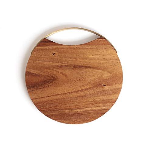 WANGGUAN Küchen-Schneidebrett, Qualitäts-Akazienholz, Bio-Holz-Schlachtklötze und Holzschnitzplatten für Fleisch und Hacken -