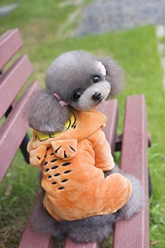 Party Haustier Kostüm Tierbedarf Verschiedenes Klassische Winterkleidung für Haustiere Garfield vierbeiniges Fleece (Farbe: Orange, Größe: S) Pet Uniform (Farbe : Orange, Größe : S)