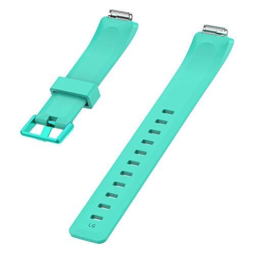 AchidistviQ Mehrfarbiges Armband aus weichem Silikonarmband für Fitbit Inspire/Inspire HR Lake Blue S