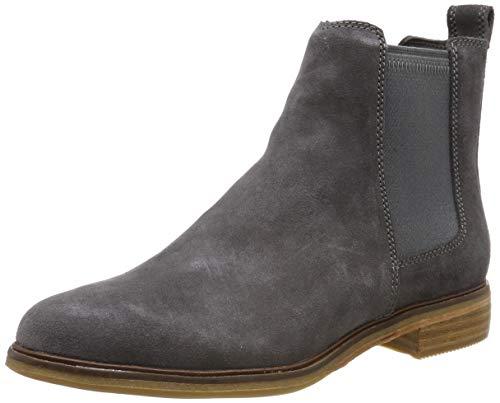 Clarks Damen Clarkdale Arlo Chelsea Boots, Grau (Grey Suede), 37.5 EU -