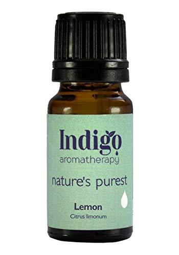 Indigo Herbs Zitronenöl 10ml - 100% reines ätherisches Öl (Kalt Gepresst)