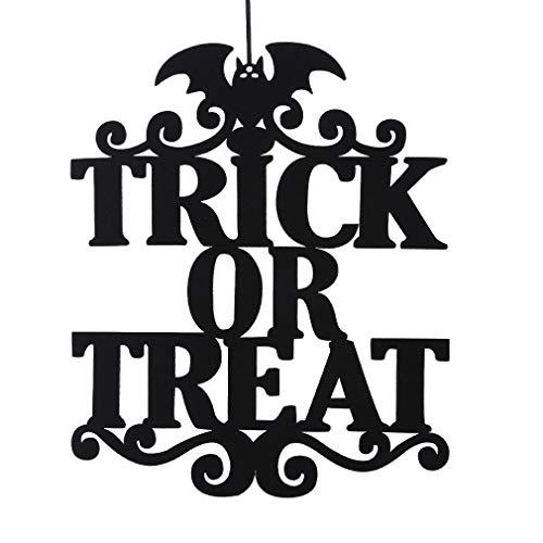 Yinew Halloween Tür Hängen, Schwarzes Vliesstoff Tür Fenster -
