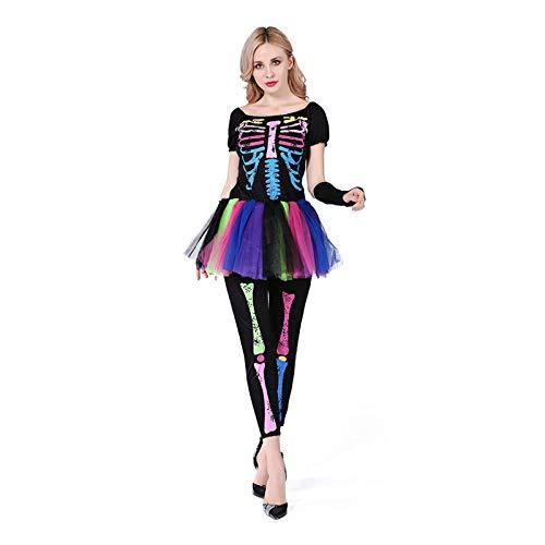 Braut Kostüm Für Toten Tag Der Erwachsene - Averyshowya Kleidung für Erwachsene Halloween Sexy mit Blut Geist Braut Kostüm weiße Leiche Braut Vampir Cosplay Kleid unheimlich Tag der Toten Kostüme für Frauen @ Q_L
