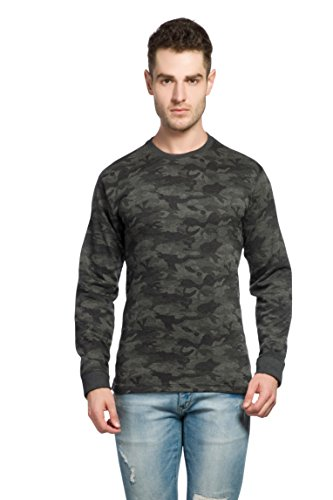 Alan Jones Military Camouflage Men's Round Neck Full Sleeve Cotton T-Shirt