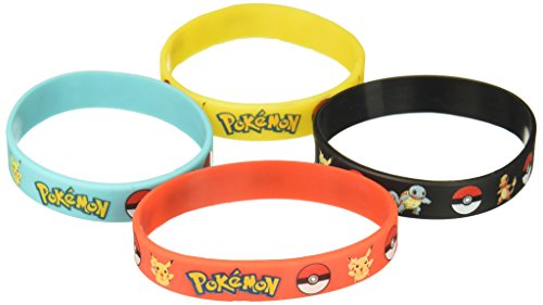 Pokemon Party Supplies Silicone Wristband Bracelet Favors 12 Count by Gifts & Crafts (Supplies Party)