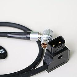Alvin's Cables Teradek - Cable de alimentación de 2 pines, ángulo recto, macho a conector D, 45,7 cm