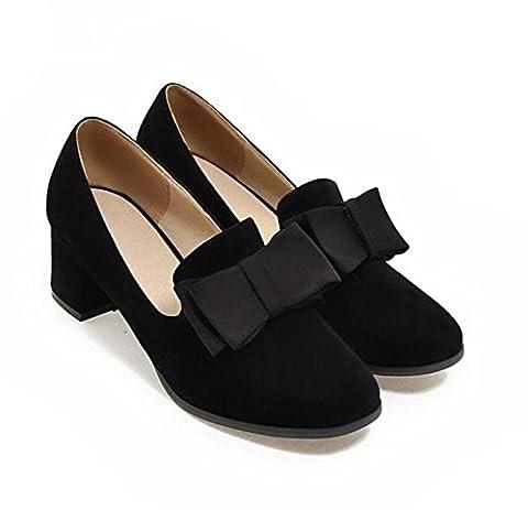 LDMB Chaussures Femmes Pour Chaussures Pieds Larges Et Gras Simple Chaussures Printemps Et Automne , black , 43 custom 2-4 days are not returned