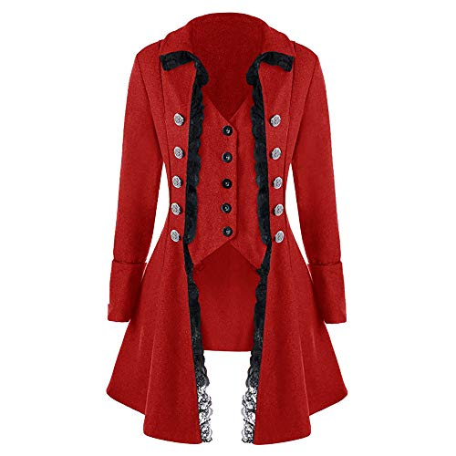 ALIKEEY Manteau Homme hivers Doudoune Homme Hiver Chaud Sweat-Shirt à Capuche Homme Manteau pour Hommes Tailcoat Jacket Red Coat Uniforme Costume Praty Outwear