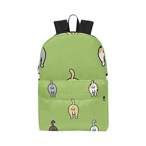 Cat Funny Breed Balls Klassische niedliche Wasserdichte Laptop Daypack Taschen School College Kausal Rucksäcke Rucksäcke Bookbag für Kinder, Frauen und Männer Reisen mit Reißverschluss