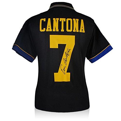 Manchester United 1994 Chemise noire, signée par Eric Cantona