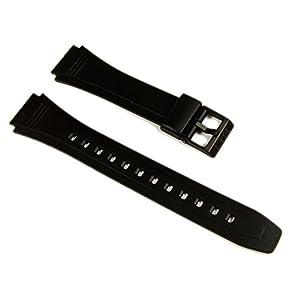 Casio Ersatzband Uhrenarmband Resin 18mm schwarz DB-36-1AVEF DB-36