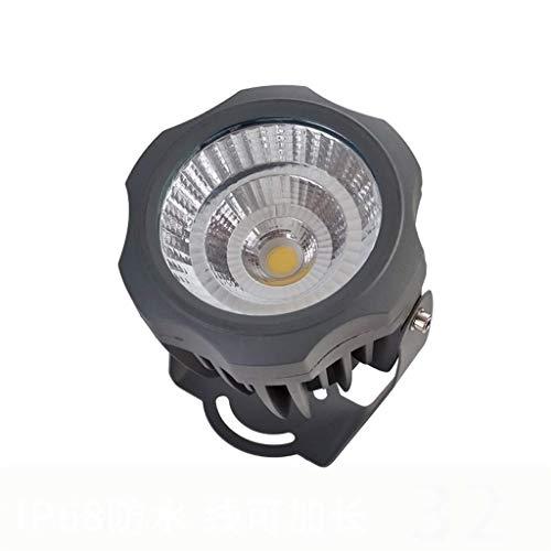 LED Bodeneinbaustrahler Draussen Beleuchtung IP68 10W 20W LED Projektion Lampe Flutlicht Punktlicht zum Garten Hof Gebäude Wand Baum Lampen (Color : Warm light-20W) - Freien Led Cree Flut-im