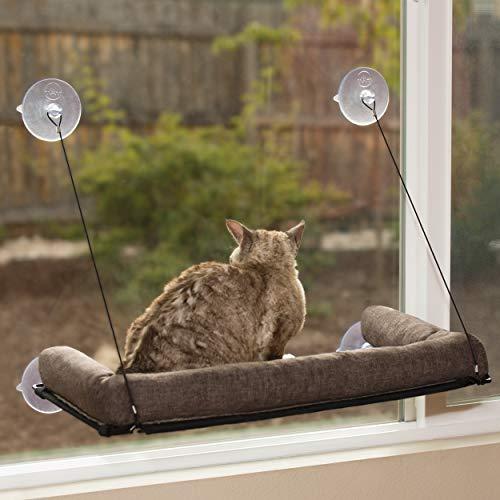 KH 779090 Haustierprodukte, EZ Kitty Sill Deluxe mit Polster, luxuriöses Fenster-Katzenbett