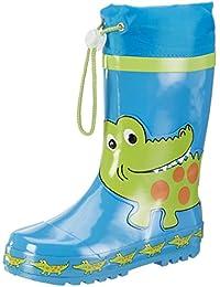 Playshoes Krokodil, Bottes de Pluie mixte enfant