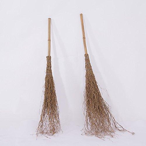 Reisigbesen ca. 110 cm Bambus Besen Reisig Hexenbesen
