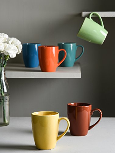 Multi Color Gloss Finish Coffee Mugs - Set of 6
