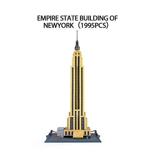 Kleine Partikel Baustein Empire State Building Modell Mädchen Spielzeug Gebäude Spielzeug Set Geeignet für Kinder über 6 Jahre 1995St (Empire State Building-modell)