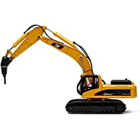 Top Race Metal Die Cast Excavator Drill Tractor, Construction Toy Tractor - Metal Drill (TR-218D)