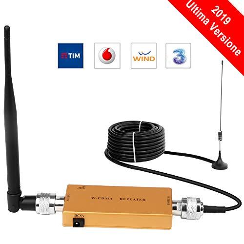 Yuanj Handy signalverstärker 2G 3G Repeater GSM Verstärker 2100 MHz WCDMA Verstärker Telefon für Ladegeräte Sprachanruf (Gold) (Handy-verstärker 3g)