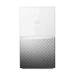 WD My Cloud Home Duo 4 TB Persönlicher Cloudspeicher - externe Festplatte 2-Bay - WLAN, USB 3.0. Backup, Videostreaming - WDBMUT0040JWT-EESN