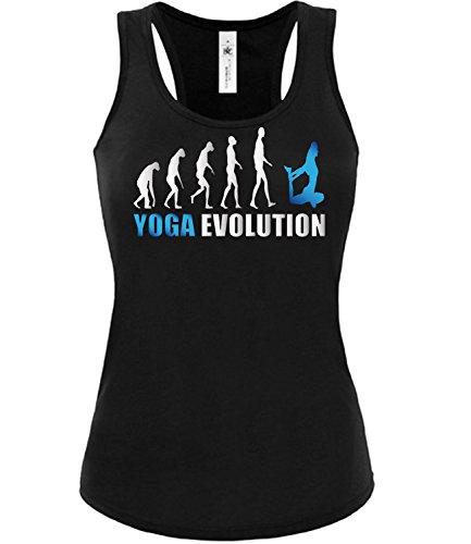 Sport - YOGA EVOLUTION - Cooles Fun Donna Canotta Taglia S to XXL vari colori nero / blu