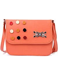 Glorist Pink Leatherette Sling Bags For Women's And Girls
