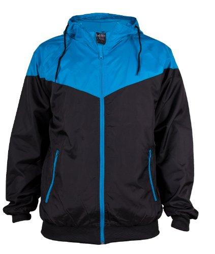 Urban Classics Herren Jacke Bekleidung Arrow Windrunner black-turquoise