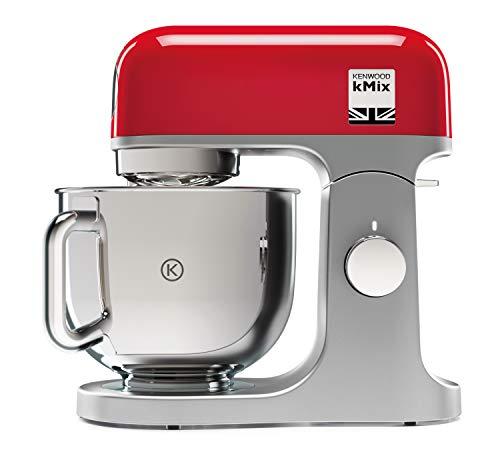 Kenwood kMix KMX750RD - Robot de Cocina, 1000 W, Bol 5 L con Asa, Incluye: Gancho Amasar, Batidora Varillas...