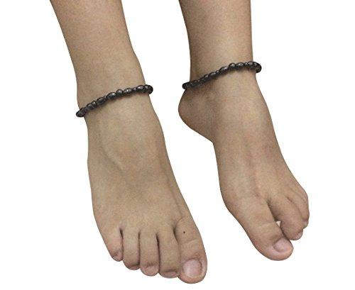 Drkao 2 Pack Magnetfeldtherapie Fußkette Magnet Fußkettchen zur Schmerzlinderung von Arthritis Magnete zur Angstbekämpfung Magnetische Fusskettchen Gewichtsabnahme Migränebehandlung Angstbekämpfung