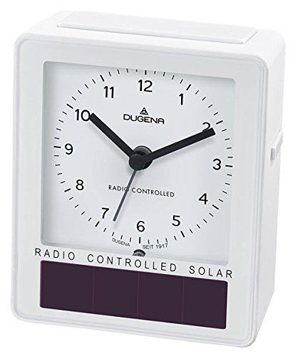 Dugena Solar-Funkwecker, weiß