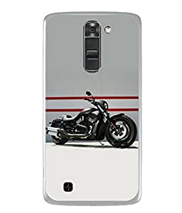 Fuson Designer Back Case Cover for LG K10 :: LG K10 Dual SIM :: LG K10 K420N K430DS K430DSF K430DSY (Motorcycle Racing Road rash Big wheels Yamaha)