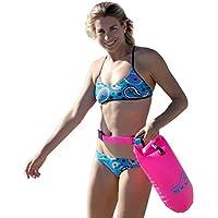 New Wave Schwimmboje für Openwater Schwimmer und Triathleten - Visible Float für Training und Wettkampf (Pink PVC Mittel 15L Bundle with Waterproof Phone Case)