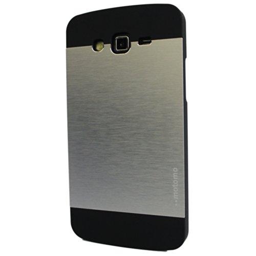 Brain Freezer Motomo Metal Back Case Cover For Samsung Galaxy Grand 2 G7102 G7106 Silver