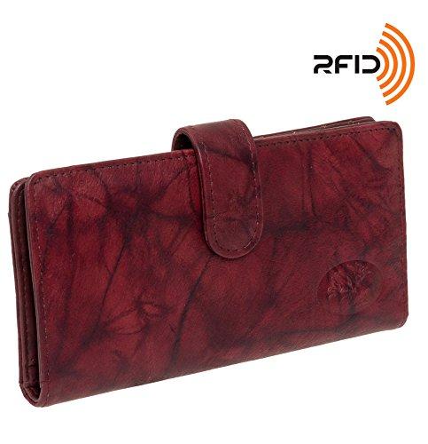 buxton-leder-heiress-tab-checkbook-cover-kreditkarte-halter-einheitsgroesse-burgundy-rfid