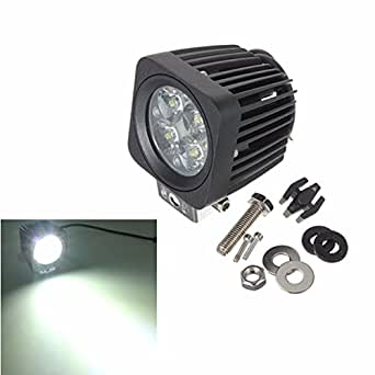AUDEW 12V 10W 4-LED 4WD Feux Travail Eclairage Chantier Phare Projecteur Spot Light Pour Modulaire Camion Lourd Offroad SUV Jeep 4X4