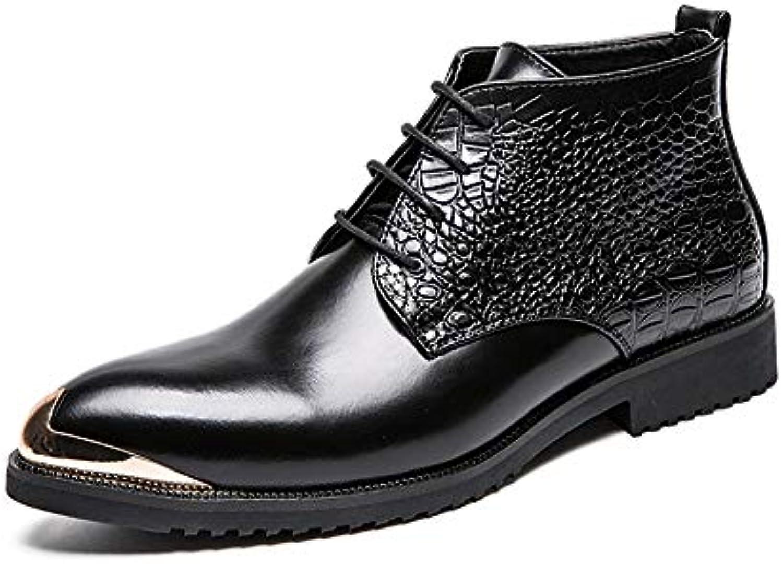 002719f9e8c0b Shuo lan Mode pour Hommes Oxford Casual Casual Casual personnalité Couture  Chaussures rétro Formelle en métal