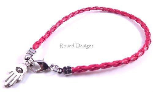 a Friendship Bracelet Evil Eye Charm Kabbalah Hand Of Fatima Red ()