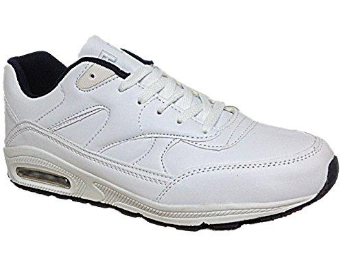 Airtech , Baskets mode pour homme Blanc/bleu marine