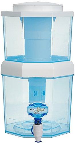 KENT Gold Optima 5-Litres Gravity Based Non-electric Water Purifier,Aqua Blue/White