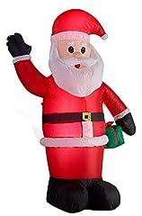 Idea Regalo - Babbo Natale gonfiabile illuminato LED altezza di 180 centimetri
