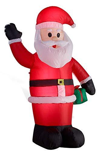 Gartenpirat Weihnachtsmann aufblasbar beleuchtet Figur 180 cm groß für innen außen