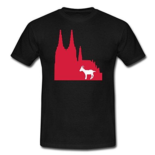 Spreadshirt Köln Männer T-Shirt, L, Schwarz