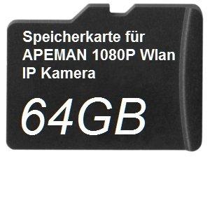 64GB DSP Speicherkarte für APEMAN 1080P WLAN IP Kamera