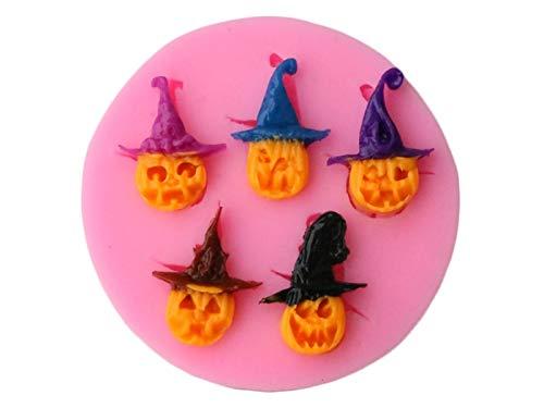 OVVO Halloween Kürbis Schokoladenformen Kuchen Dekorieren Tools Fondant Kuchen Modell (Rosa) Formen Kuchen Dekorieren Tools