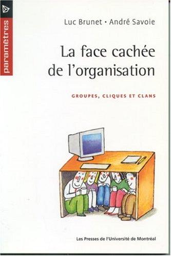 La Face cachée de l'organisation : Groupes, cliques et clans par Luc Brunet